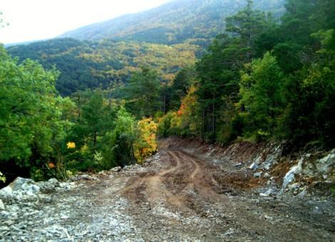 Nueva apertura de vial en Sierra de illón. Aspurz-Navascués 2015